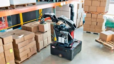 Manipulación robótica de cajas en almacenes y depósitos