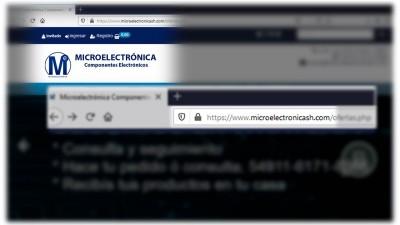 Implementación del certificado SSL en la web de Microelectrónica Componentes SRL