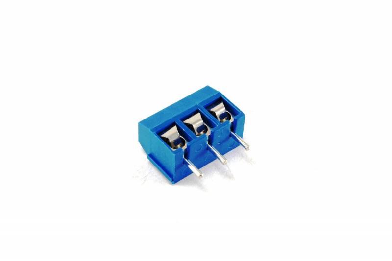 Bornera Triple Azul Para Impreso 8a 300v