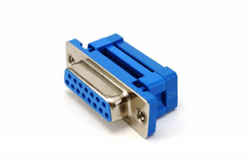 Db15 Hembra P/cable Plano (2 Hileras)
