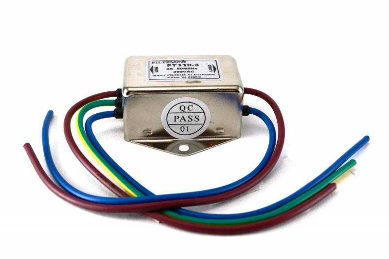 Filtro De Linea 3a 250v Con Cables