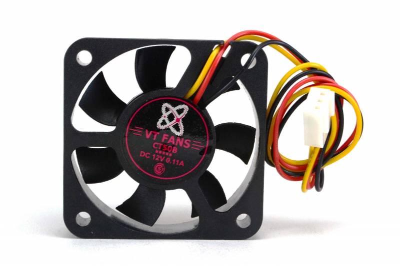 Fan 50x50x10mm 12vdc C/buje 3 Cables